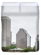 Providence Rhode Island City Skyline In October 2017 Duvet Cover