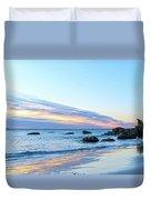 Rocky Daybreak Seascape Duvet Cover