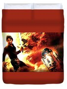 Star Wars Heroes Poster Duvet Cover