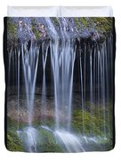 Water Flowing Over Rocks Duvet Cover