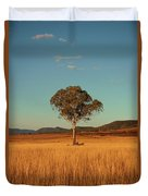 Country Agricultural And Farming Field. Duvet Cover