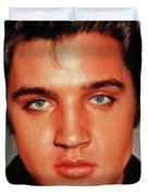 Elvis Presley, Rock And Roll Legend Duvet Cover