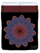 Kaleidoscope Image Created From Light Trails Duvet Cover
