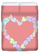 Love Heart Valentine Shape Duvet Cover