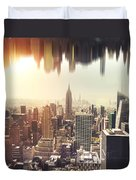 New York Midtown Skyline - Aerial View Duvet Cover