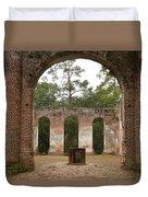 Old Sheldon Church  Duvet Cover