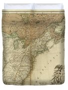 1783 United States Of America Map Duvet Cover