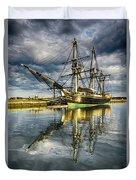 1797 Trading Ship Replica - Friendship Of Salem Duvet Cover