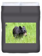 American Black Bear Yellowstone Usa Duvet Cover