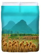 Beautiful Countryside Scenery In Autumn Duvet Cover
