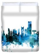Boston Massachusetts Skyline Duvet Cover
