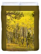 Rocky Mountain Autumn Duvet Cover