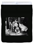 Silent Film Still: Couples Duvet Cover