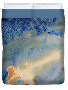 18. V1 Blue, Green, And Brown Glaze Painting Duvet Cover