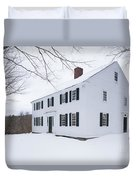 1800 White Colonial Home Duvet Cover