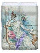 1804 Paris France Fashion Drawing Duvet Cover