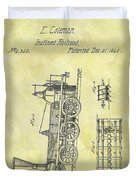 1845 Locomotive Patent Duvet Cover