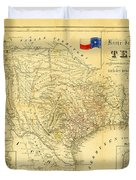 1849 Texas Map Duvet Cover