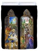 1857 Nativity Scene Duvet Cover
