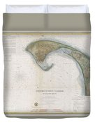 1857 U.s.c.s. Map Of Provincetown Harbor, Cape Cod, Massachusetts Duvet Cover