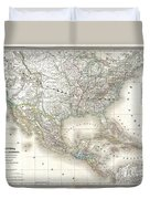 1858 Dufour Map Of The United States  Duvet Cover