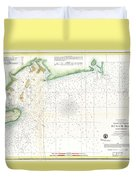 1859 U.s. Coast Survey Map Of Bull's Bay South Carolina Duvet Cover