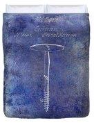 1860 Corkscrew Patent Blue Duvet Cover