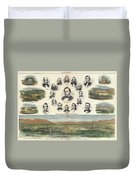 1866 Harpers Weekly View Of Salt Lake City Utah W Brigham Young Mormons Duvet Cover