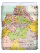 1869 King County Map Duvet Cover