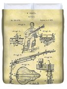 1873 Guitar Patent Duvet Cover