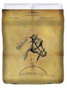 1874 Horse Blinder Patent Duvet Cover