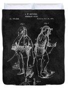 1876 Fireman Suit Patent Duvet Cover