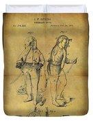 1876 Fireman's Suit Duvet Cover