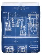 1877 Bottling Machine Patent - Blueprint Duvet Cover