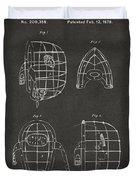 1878 Baseball Catchers Mask Patent - Gray Duvet Cover by Nikki Marie Smith