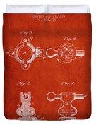 1879 Exercise Machine Patent Spbb08_vr Duvet Cover