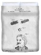 1879 Mustache Guard Patent Duvet Cover