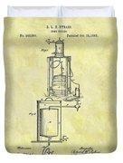 1881 Beer Cooler Patent Duvet Cover
