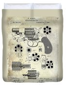 1881 Revolver Patent  Duvet Cover