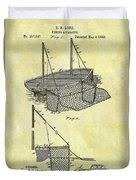 1882 Fishing Net Patent Duvet Cover