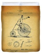 1883 Bicycle Duvet Cover