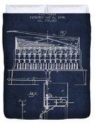 1884 Bottling Machine Patent - Navy Blue Duvet Cover
