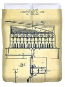 1884 Bottling Machine Patent - Vintage Duvet Cover