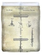1884 Corkscrew Patent Duvet Cover