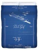 1885 Tuning Fork Patent - Blueprint Duvet Cover