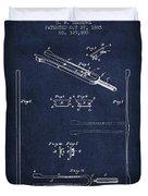 1885 Tuning Fork Patent - Navy Blue Duvet Cover