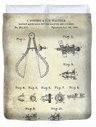 1886 Caliper And Dividers Patent Duvet Cover