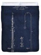 1887 Metronome Patent - Navy Blue Duvet Cover