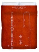 1887 Metronome Patent - Red Duvet Cover