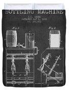 1888 Beer Bottling Machine Patent - Charcoal Duvet Cover